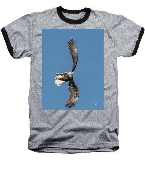 Banking Bald Eagle Baseball T-Shirt