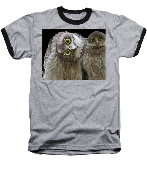 Barking Owls 2 Baseball T-Shirt