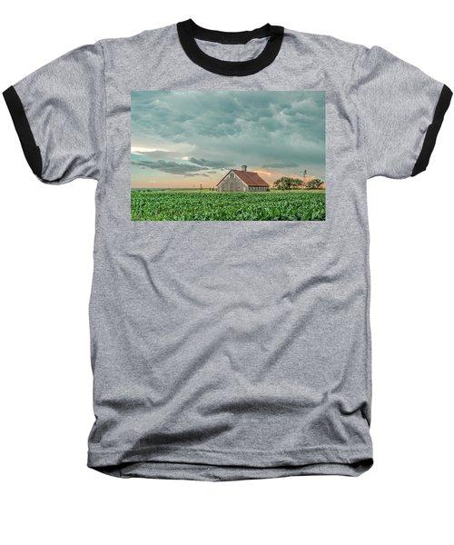 Barn In Sunset Baseball T-Shirt