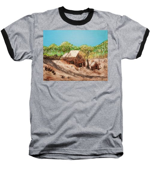 Barn On The Hill Baseball T-Shirt