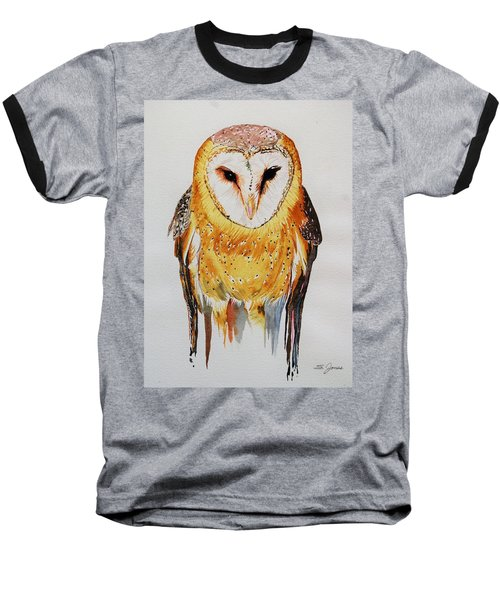 Barn Owl Drip Baseball T-Shirt