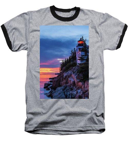 Bass Harbor Head Lighthouse At Twilight Baseball T-Shirt