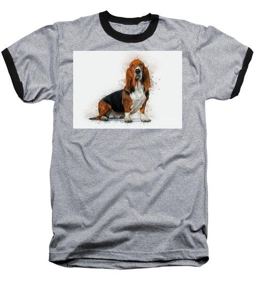 Basset Hound Baseball T-Shirt