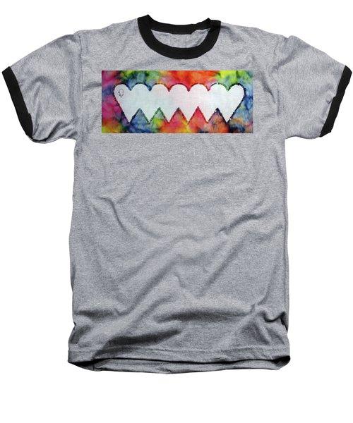 Be Still My Beaded Hearts Baseball T-Shirt