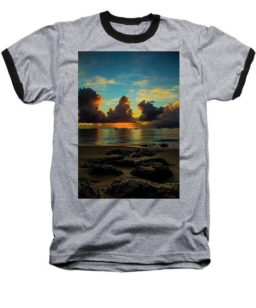 Beach At Sunset 2 Baseball T-Shirt