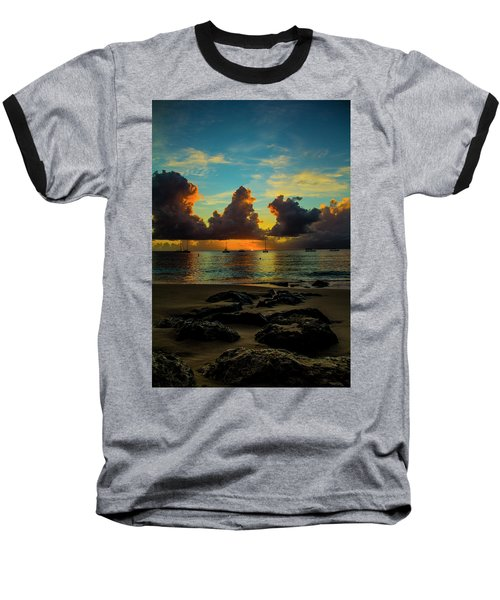 Beach At Sunset 2 Baseball T-Shirt