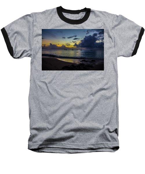Beach At Sunset 3 Baseball T-Shirt