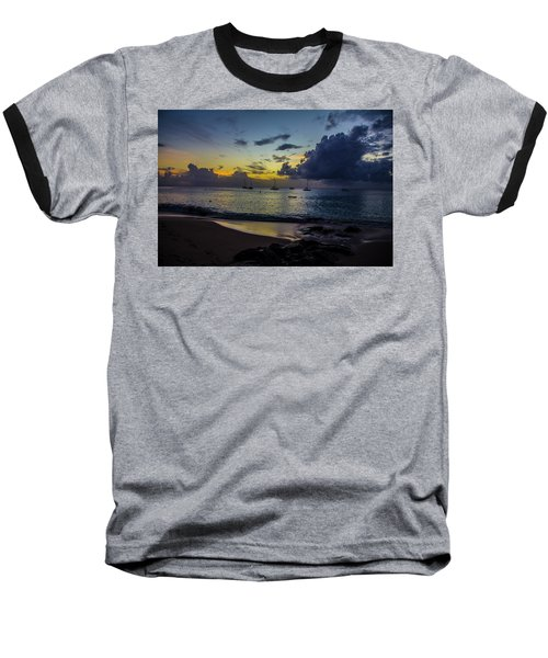Beach At Sunset 3 Baseball T-Shirt