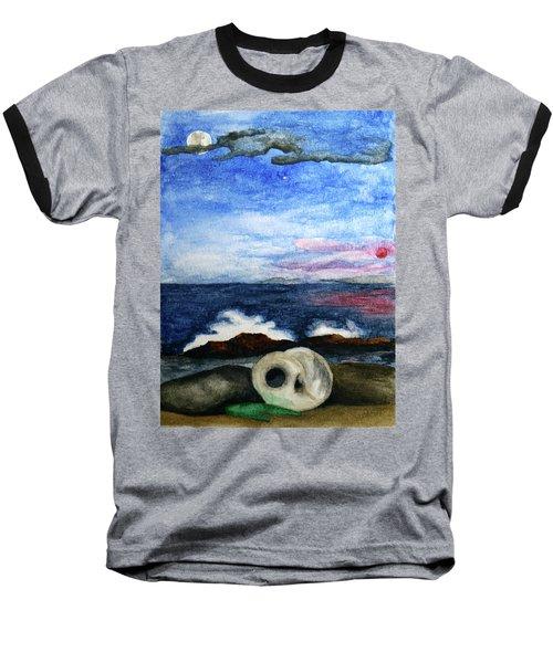 Beach Debris With Waves Baseball T-Shirt