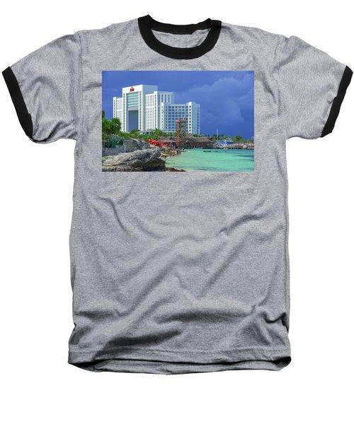 Beach Life In Cancun Baseball T-Shirt