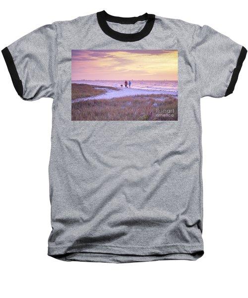 Sunrise Stroll On The Beach Baseball T-Shirt