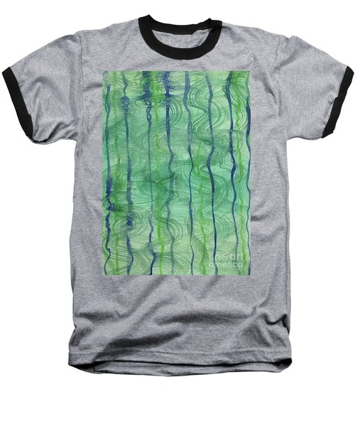 Beach Water Lines Baseball T-Shirt