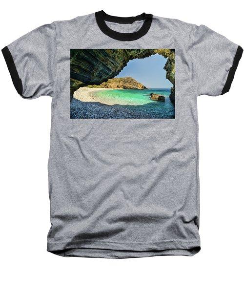 Almiro Beach With Cave Baseball T-Shirt