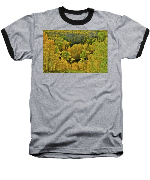 Beautiful Fall Colors At Woods Lake State Wildlife Area Baseball T-Shirt