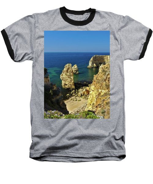 Beautiful Marinha Beach From The Cliffs Baseball T-Shirt