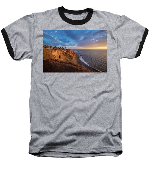 Beautiful Point Vicente Lighthouse At Sunset Baseball T-Shirt