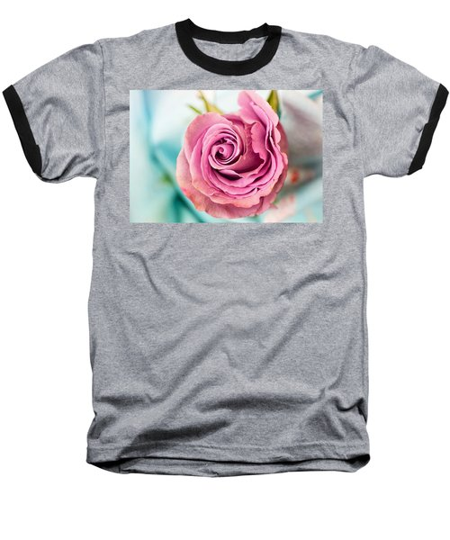 Beautiful Vintage Rose Baseball T-Shirt
