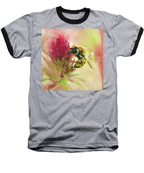 Bee On Clover Baseball T-Shirt