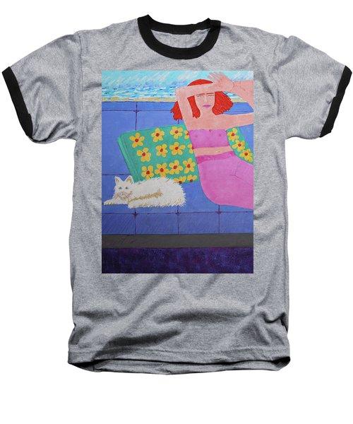 A Woman And Ralph Her Cat Baseball T-Shirt
