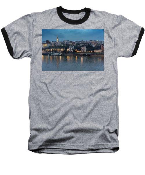 Belgrade Skyline And Sava River Baseball T-Shirt