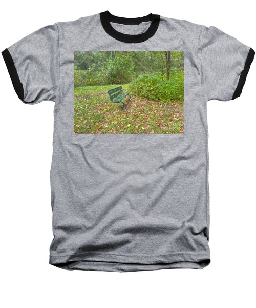 Bench Overlooking Pine Quarry Baseball T-Shirt