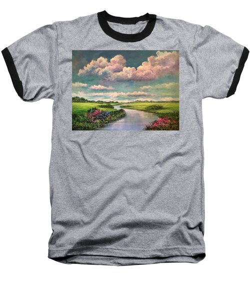 Beneath The Clouds Of Paradise Baseball T-Shirt