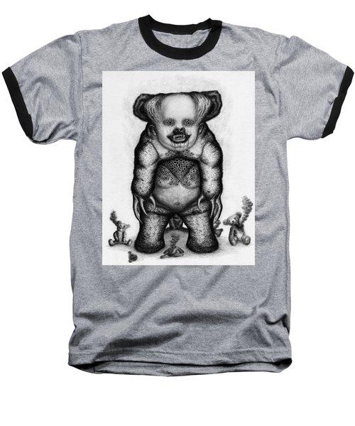 Benjamin The Nightmare Bear Artwork Baseball T-Shirt