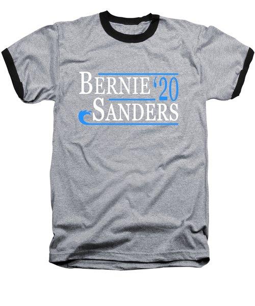 Bernie Sanders Blue Wave 2020 Baseball T-Shirt