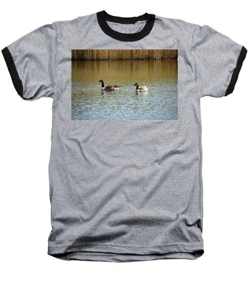 Bidston.  Bidston Moss Wildlife Reserve. Two Geese. Baseball T-Shirt