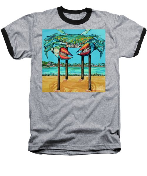 Big Blue Crab Rockport Baseball T-Shirt