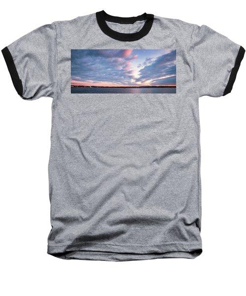 Big Sky Over Portsmouth Light. Baseball T-Shirt