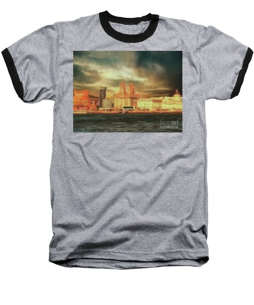Baseball T-Shirt featuring the photograph Big Sky Over The Mersey by Leigh Kemp