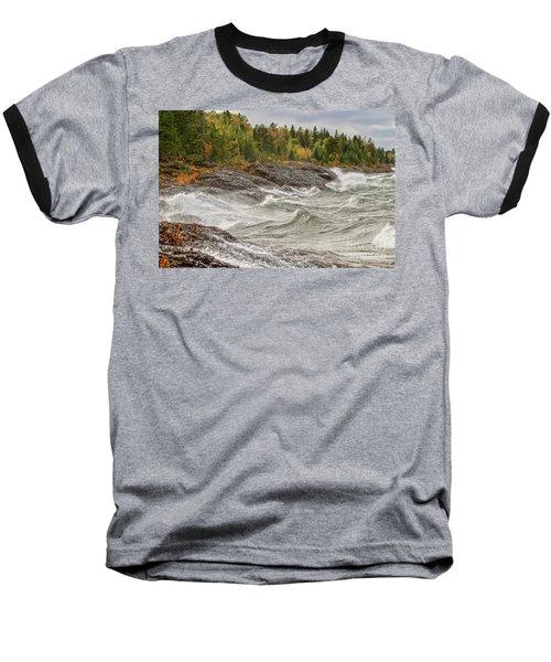 Big Waves In Autumn Baseball T-Shirt
