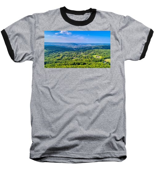 Binghamton Aerial View Baseball T-Shirt