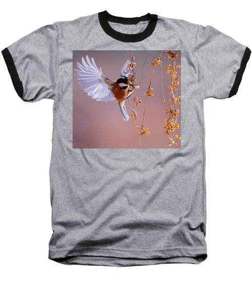 Bird Eating On The Fly Baseball T-Shirt