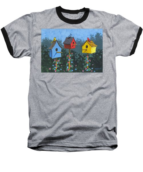 Bird House Lane Sketch Baseball T-Shirt