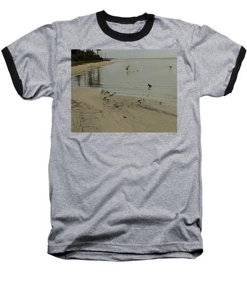 Birds On Beach Baseball T-Shirt