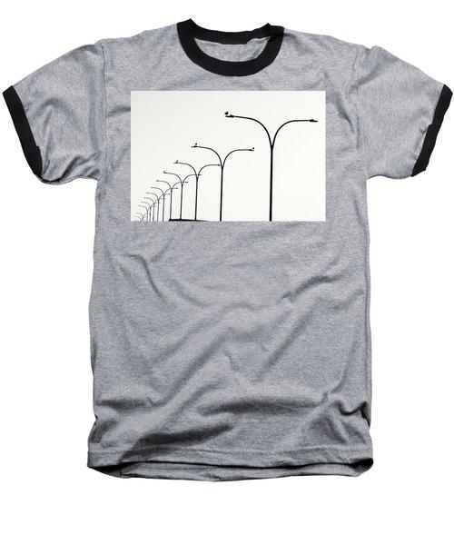 Birds Watch Over Queensway Bridge Baseball T-Shirt