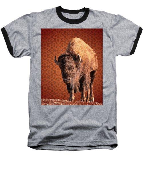 Bison Blanket Baseball T-Shirt