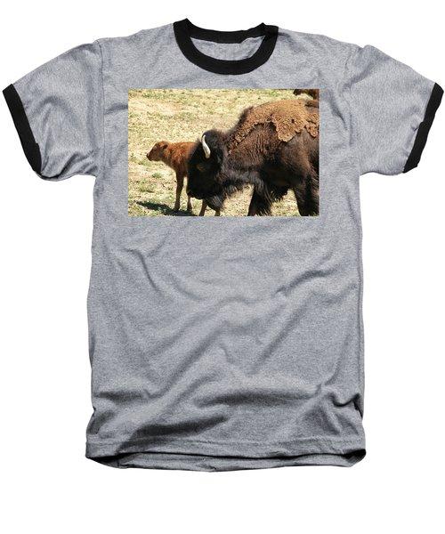 Bison In North Dakota Baseball T-Shirt