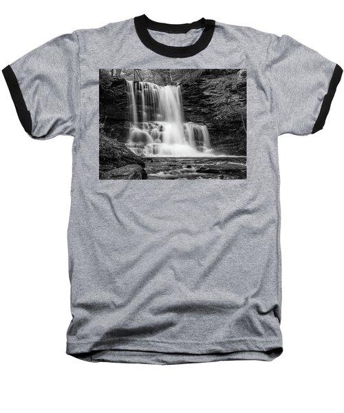 Black And White Photo Of Sheldon Reynolds Waterfalls Baseball T-Shirt