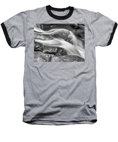 Black And White Rushing Water Baseball T-Shirt