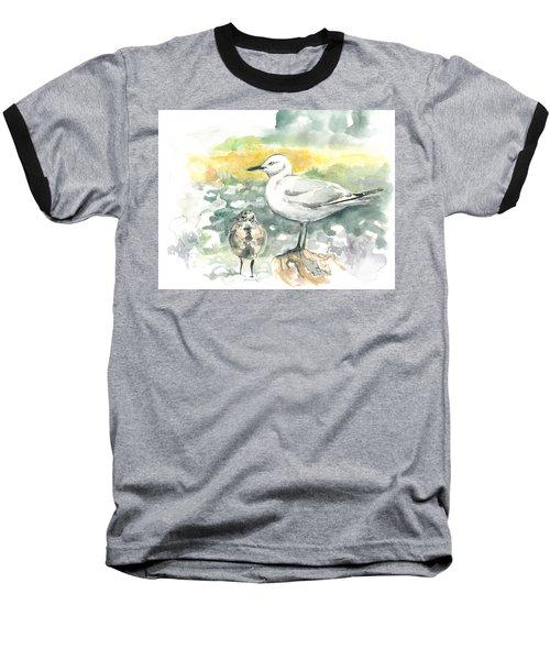 Black-billed Gull Family Baseball T-Shirt