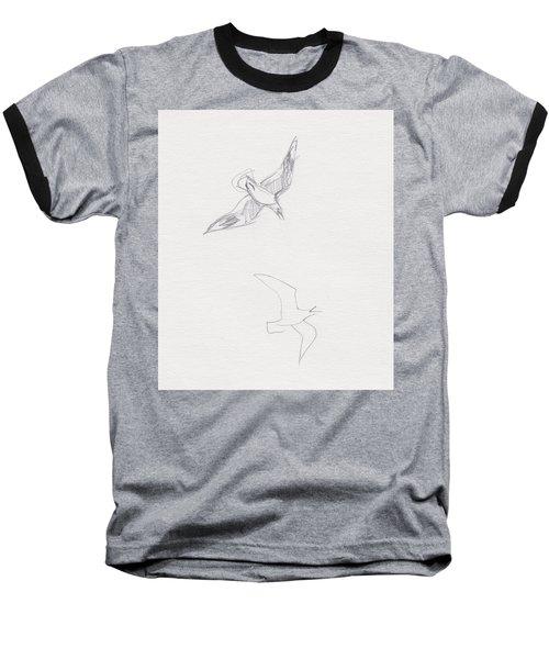 Black-billed Gulls Baseball T-Shirt