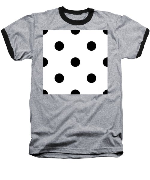Black Dots On A White Background- Ddh610 Baseball T-Shirt