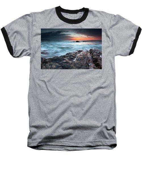 Black Sea Rocks Baseball T-Shirt