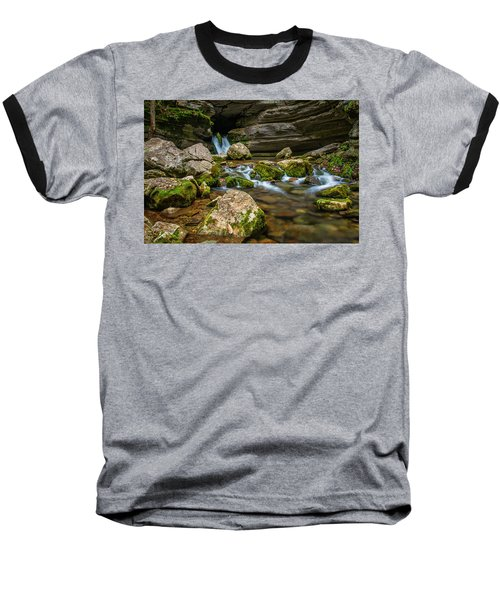 Baseball T-Shirt featuring the photograph Blanchard Springs Headwater by Andy Crawford