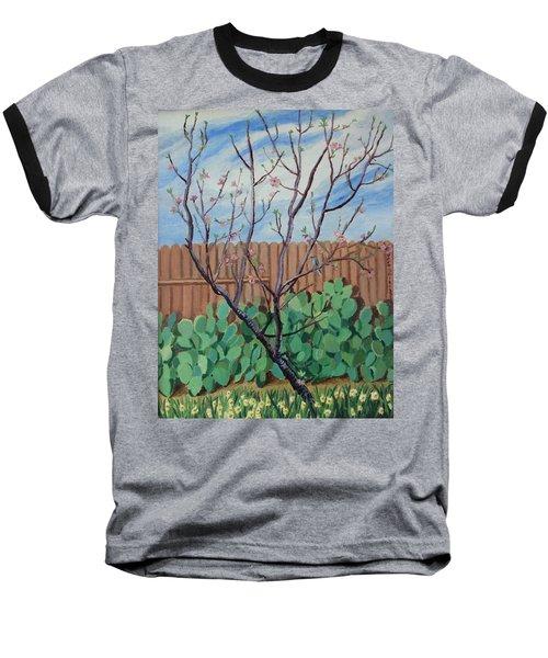 Blooming Peach In Our San Antonio Backyard Baseball T-Shirt