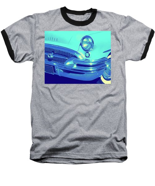Blue 1955 Buick Special Baseball T-Shirt
