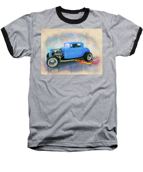 Blue 32 Ford Coupe Baseball T-Shirt
